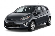 2011 Ford Fiesta 4-door HB SES Angular Front Exterior View