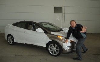 Hyundai Uses Twitter To Reveal Their Own Spy Shot Of The 2011 Elantra