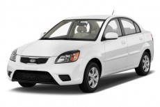 2011 Kia Rio 4-door Sedan LX Angular Front Exterior View