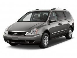 2011 Kia Sedona 4-door LWB LX Angular Front Exterior View