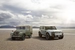 Original Land Rover Defender and DC100 concept