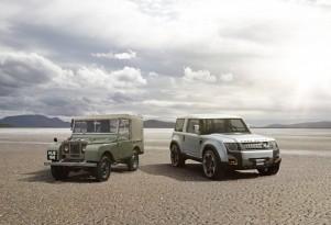 Original Land Rover Defender and DC100 concept