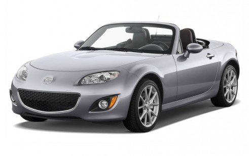 2011 Mazda MX-5 Miata 2-door Convertible PRHT Auto Grand Touring Angular Front Exterior View