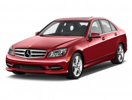 2011 Mercedes-Benz C Class 4-door Sedan 3.0L Sport RWD Angular Front Exterior View