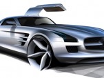 2011 Mercedes Benz SLS AMG Gullwing spy shots