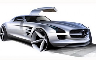 Mercedes-Benz SLS AMG Gullwing Prepares For Takeoff