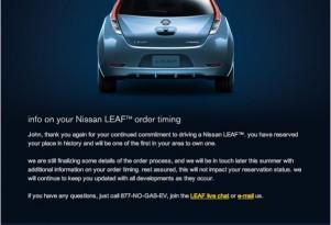 2011 Nissan Leaf Misses June 30 Deadline