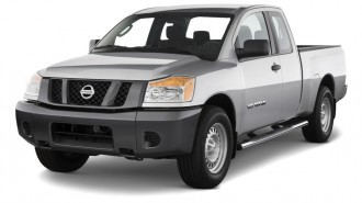 2011 Nissan Titan 4WD King Cab SWB SV Angular Front Exterior View