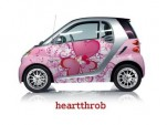 2011 Smart ForTwo with 'Heartthrob' Valentine's Day car wrap