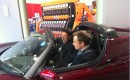 Elon Musk Shows Akio Toyoda 2011 Tesla Roadster Sport 2.5