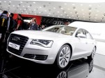 2012 Audi A8 Hybrid live in Geneva. Photos © United Pictures, Int'l.