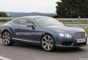 2012 Bentley Continental GT Speed facelift spy shots