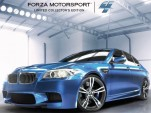 2012 BMW M5 on the cover of Forza Motorsport 4