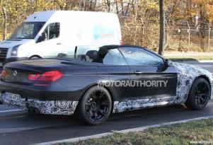 2012 BMW M6 Convertible spy shots