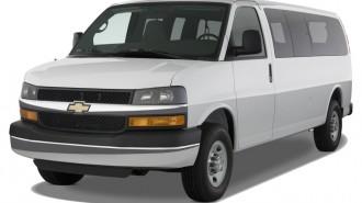 "2012 Chevrolet Express Passenger RWD 3500 155"" 1LS Angular Front Exterior View"
