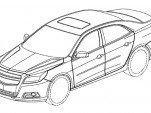 2013 Chevrolet Malibu official patent filing