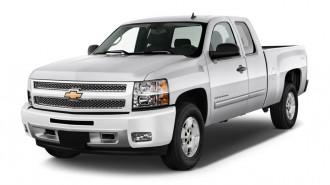 "2012 Chevrolet Silverado 1500 4WD Ext Cab 157.5"" LT Angular Front Exterior View"