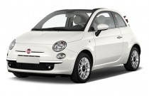 2012 FIAT 500 2-door Convertible Lounge Angular Front Exterior View