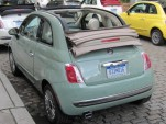 2012 Fiat 500C Cabrio, SoHo district, New York City