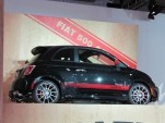 2012 Fiat 500 Abarth live reveal at Los Angeles Auto Show, Nov 2011