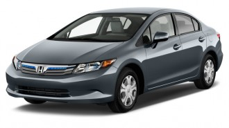 2012 Honda Civic Hybrid 4-door Sedan L4 CVT Angular Front Exterior View
