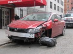 2012 Honda Civic Si sedan wrecked in New York City, April 2013