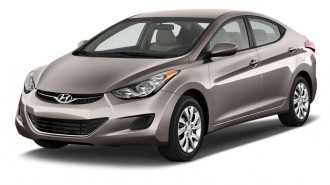 2012 Hyundai Elantra 4-door Sedan Auto GLS (Alabama Plant) Angular Front Exterior View
