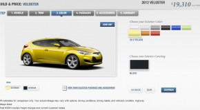 2012 Hyundai Veloster online configurator