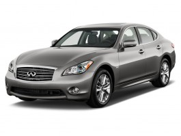 2012 Infiniti M35h 4-door Sedan RWD Hybrid Angular Front Exterior View