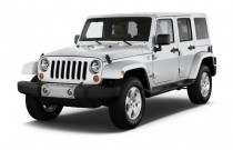 2012 Jeep Wrangler Unlimited 4WD 4-door Sahara Angular Front Exterior View