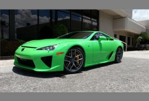 2012 Lexus LFA in Fresh Green for sale. Images via duPont Registry