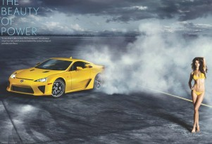 2012 Lexus LFA and Dutch supermodel Rianne Ten Haken