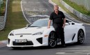 Vulkan Racing owner Manfred Sattler and his 2012 Lexus LFA