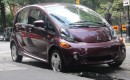 2012 Mitsubishi i electric car, New York City, August 2012