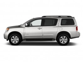 2012 Nissan Armada 2WD 4-door SV Side Exterior View
