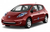 2012 Nissan Leaf 4-door HB SL Angular Front Exterior View
