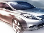 2012 Nissan Versa teaser sketch