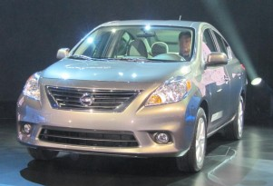 2012 Nissan Versa sedan launch, New York Auto Show, April 2011