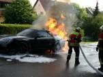 2012 Porsche 911 Prototype On Fire