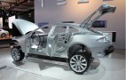 2011 Detroit Auto Show: 2013 Tesla Model S 'Body-In-White' Live Photos