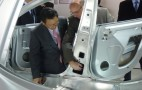 2011 Detroit Auto Show: Akio Toyoda Checks In On Tesla Model S