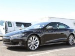 2012 Tesla Model S spy shots