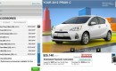 2012 Toyota Prius C Online Configuration Tool