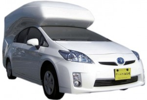 Take One Toyota Prius, Make Less Aerodynamic, Sleep In It