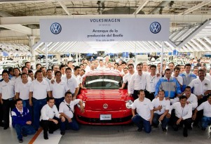 2012 Volkswagen Beetle production begins in Mexico