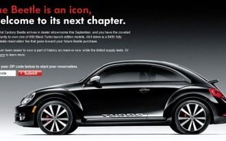 2012 Volkswagen Beetle Arrives With Special Turbo Models