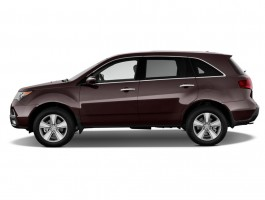 2013 Acura MDX AWD 4-door Tech Pkg Side Exterior View
