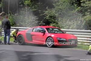 2013 Audi R8 e-tron that crashed at the Nrburgring in July 2012