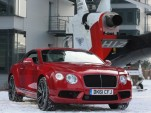 2013 Bentley Continental V8 GT flies over Munich