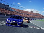 2014 Chevrolet SS and Ford Fusion NASCAR race cars on iRacing simulator
